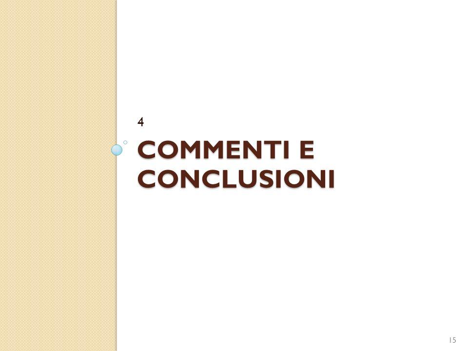COMMENTI E CONCLUSIONI 4 15