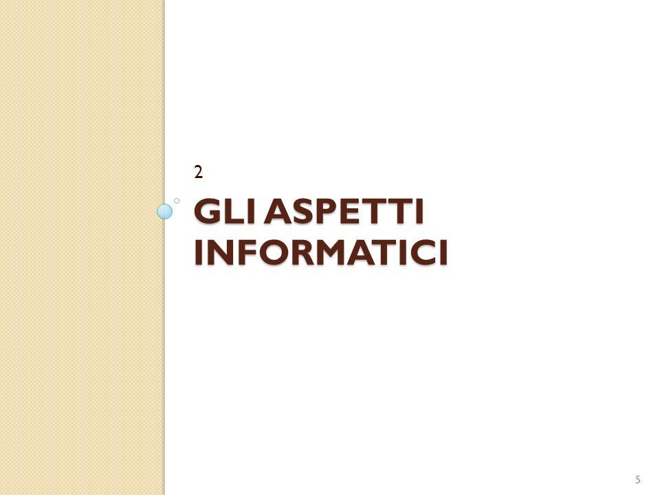 GLI ASPETTI INFORMATICI 2 5