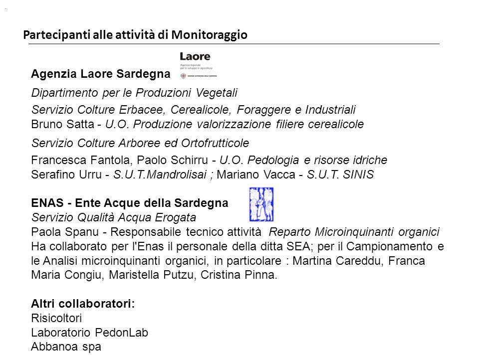 Agenzia Laore Sardegna Dipartimento per le Produzioni Vegetali Servizio Colture Erbacee, Cerealicole, Foraggere e Industriali Bruno Satta - U.O. Produ