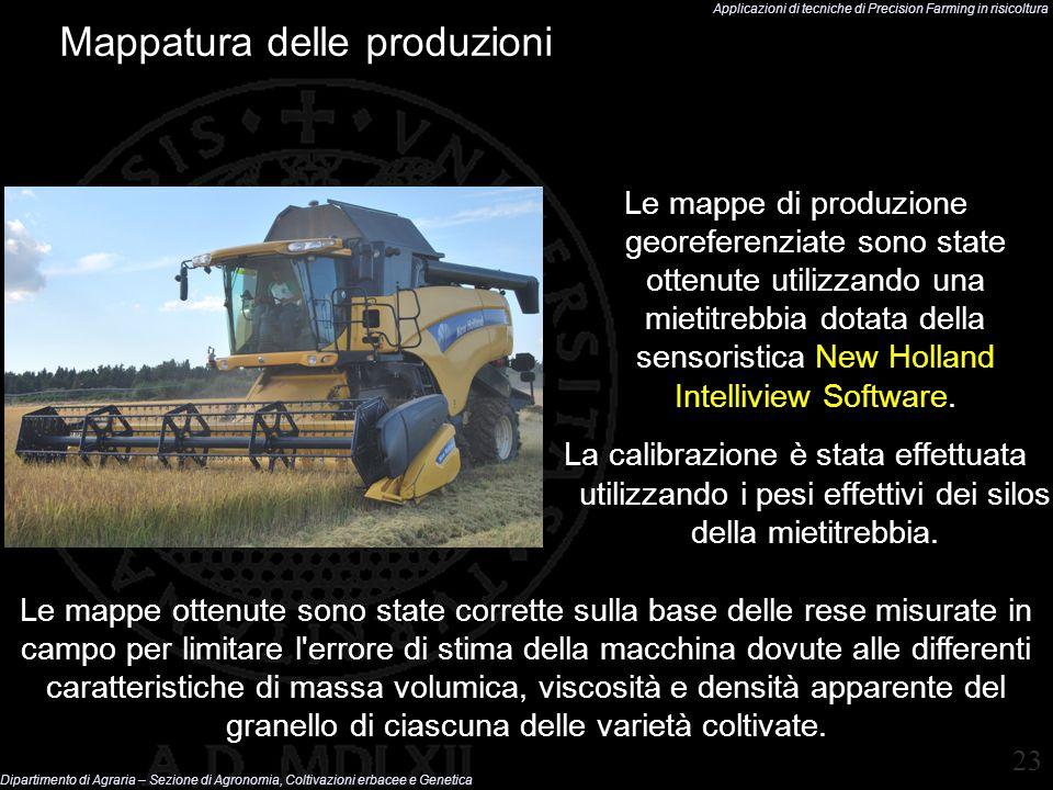 Applicazioni di tecniche di Precision Farming in risicoltura Dipartimento di Agraria – Sezione di Agronomia, Coltivazioni erbacee e Genetica 23 Mappat