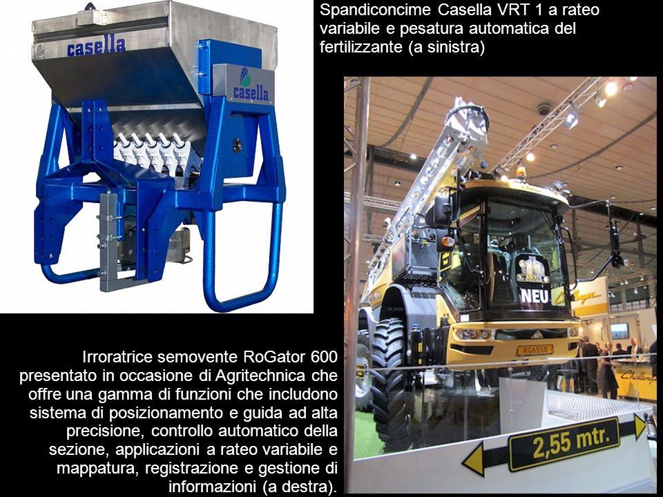 6 Irroratrice semovente RoGator 600 presentato in occasione di Agritechnica che offre una gamma di funzioni che includono sistema di posizionamento e