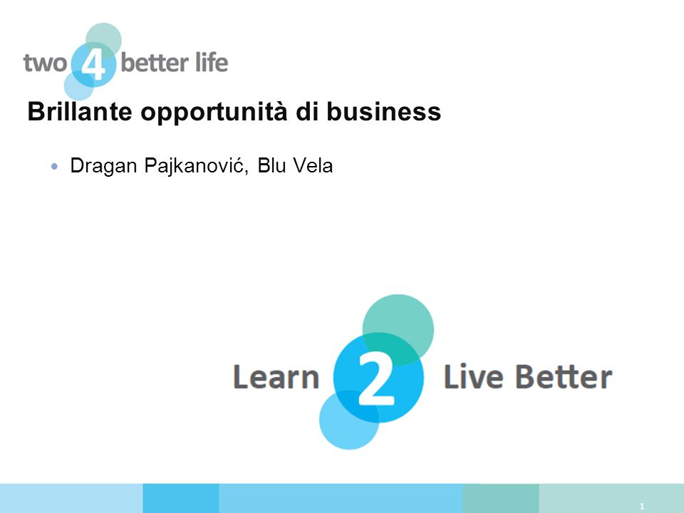 Brillante opportunità di business Dragan Pajkanović, Blu Vela 1