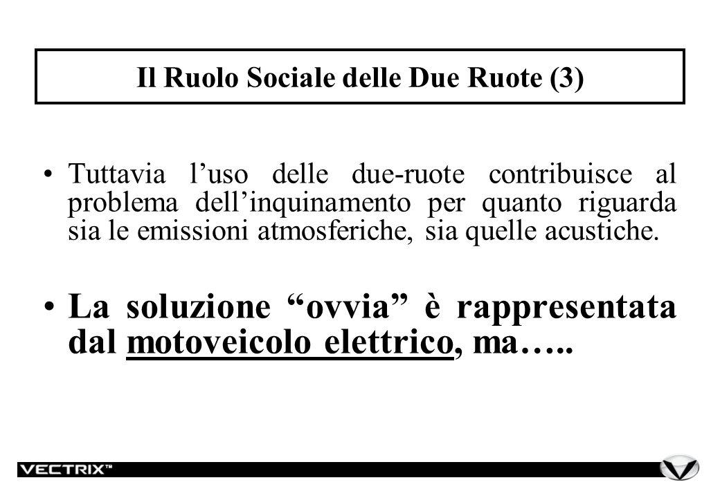 Tuttavia luso delle due-ruote contribuisce al problema dellinquinamento per quanto riguarda sia le emissioni atmosferiche, sia quelle acustiche.