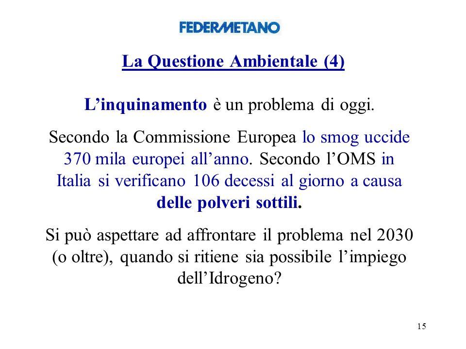 15 La Questione Ambientale (4) Linquinamento è un problema di oggi.