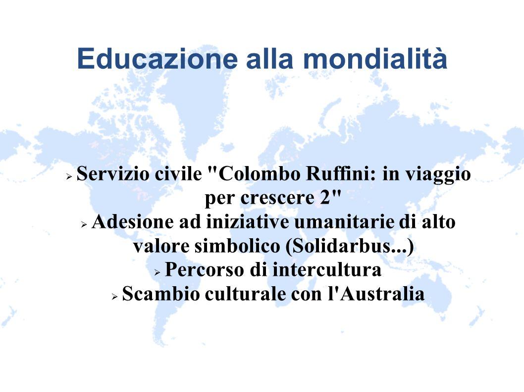 Educazione alla mondialità Servizio civile