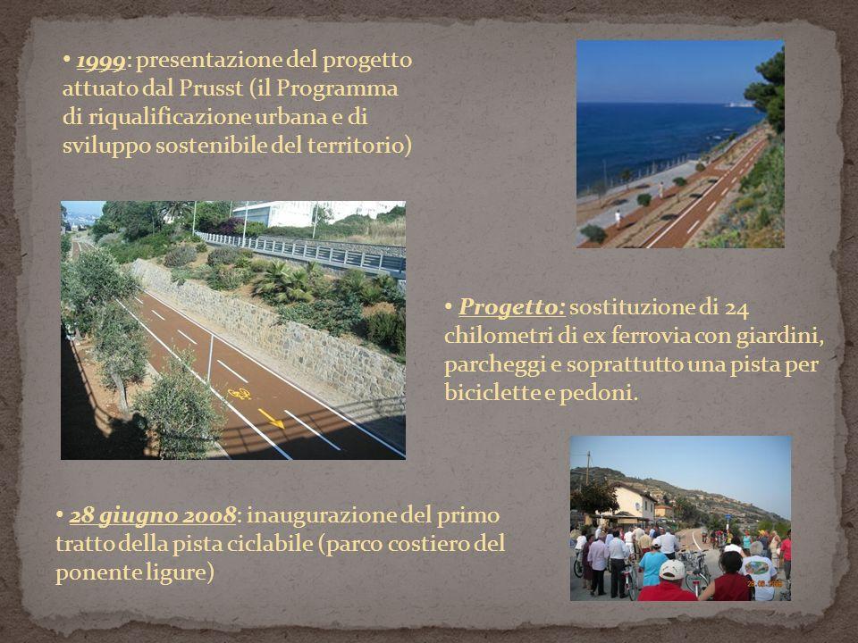 Progetto: sostituzione di 24 chilometri di ex ferrovia con giardini, parcheggi e soprattutto una pista per biciclette e pedoni. 28 giugno 2008: inaugu