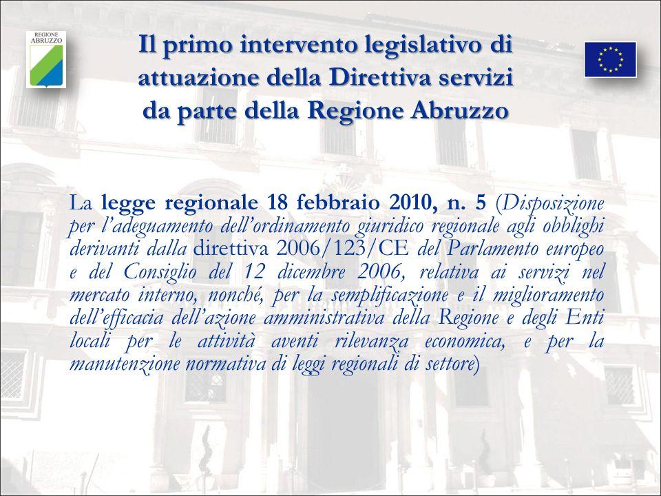 Il 2° intervento legislativo di attuazione.La L.R.