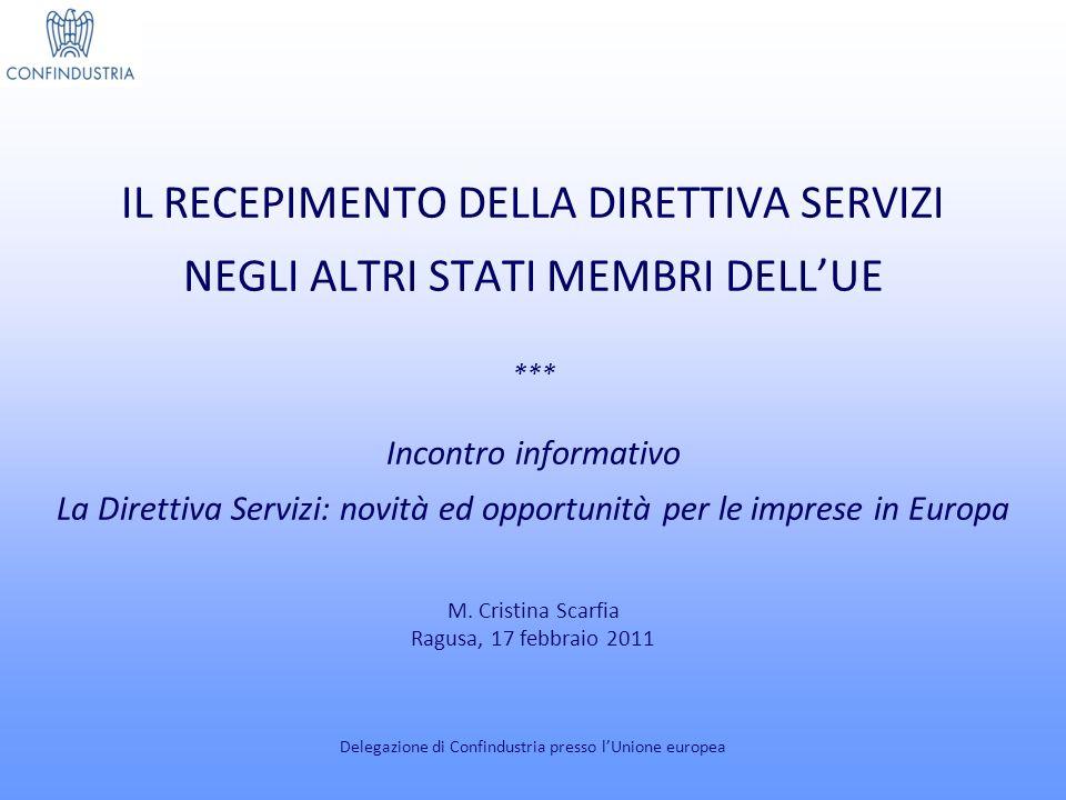 IL PORTALE EU-GO (1) www.ec.europa.eu/internal_market/eu-go Delegazione di Confindustria presso lUnione europea