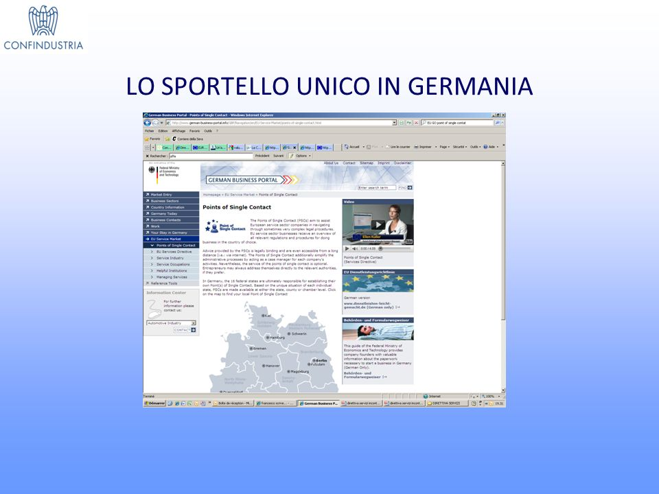 LO SPORTELLO UNICO IN GERMANIA