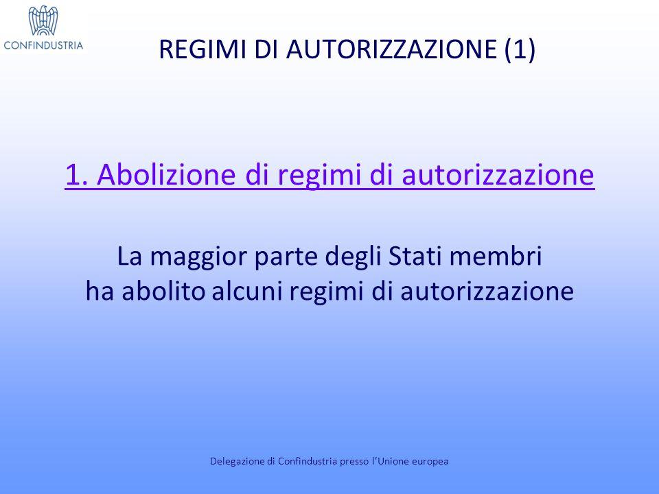 REGIMI DI AUTORIZZAZIONE (2) 2.