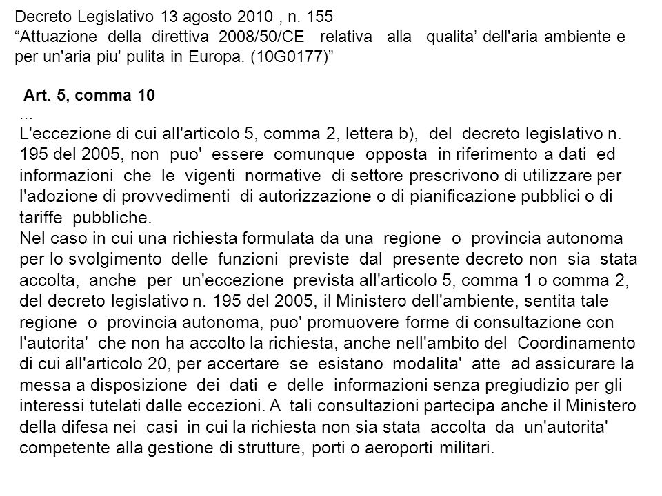Decreto Legislativo 13 agosto 2010, n.