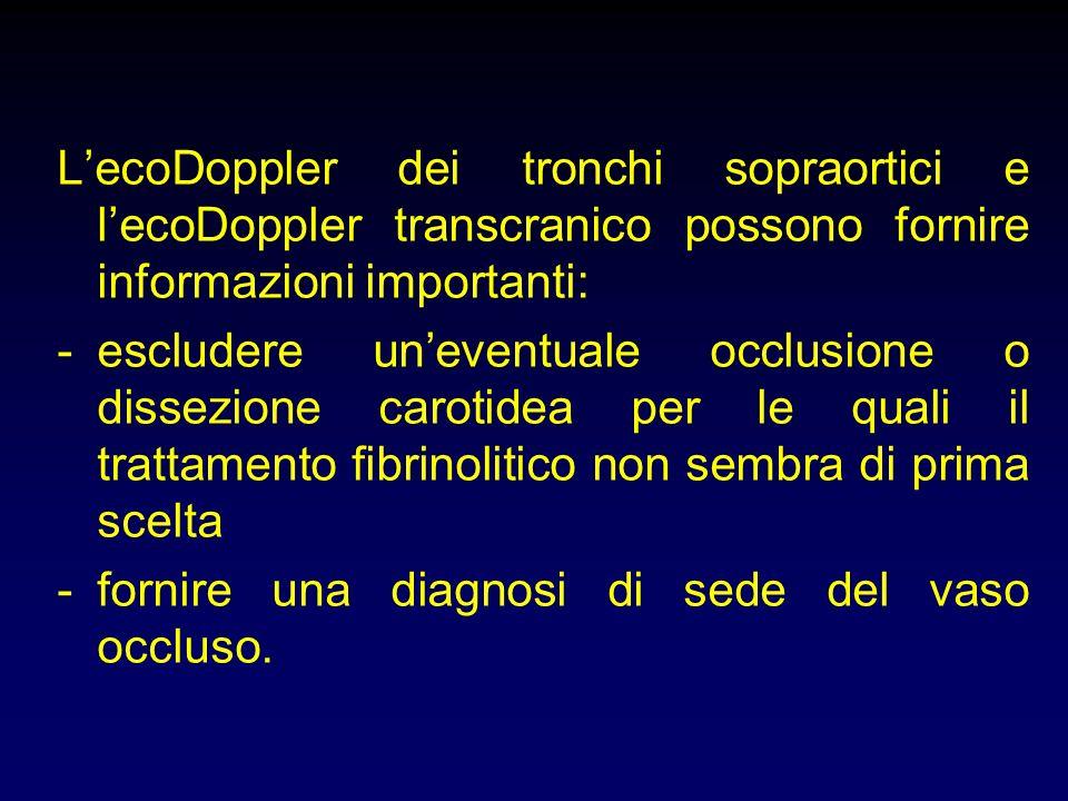 S.I. Controllo post-fibrinolisi- reperto normale