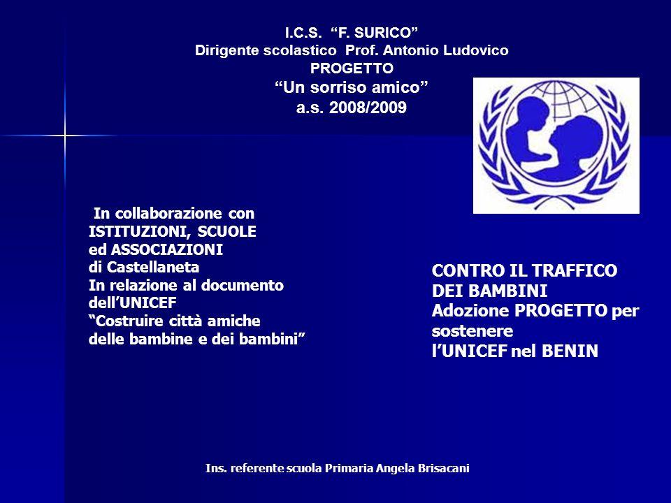 I.C.S.F. SURICO Dirigente scolastico Prof. Antonio Ludovico PROGETTO Un sorriso amico a.s.