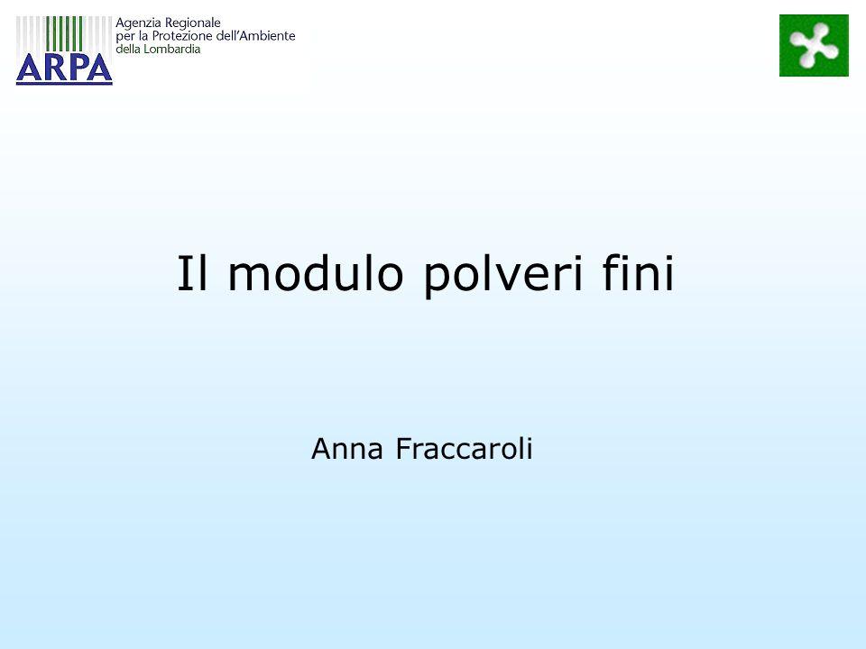 Il modulo polveri fini Anna Fraccaroli
