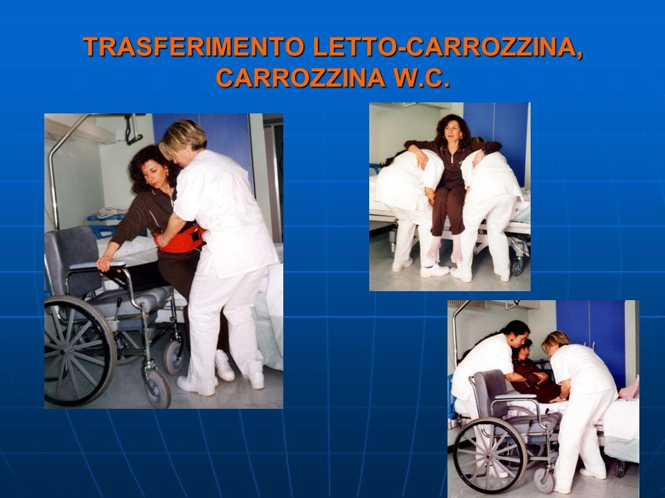 TRASFERIMENTO LETTO-CARROZZINA, CARROZZINA W.C.