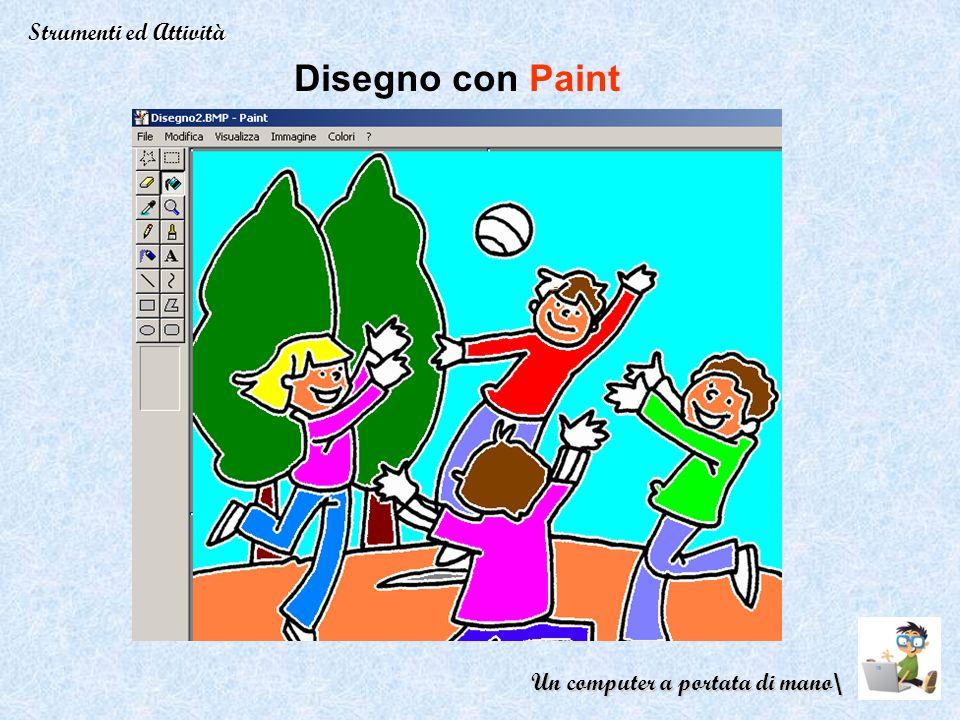 Disegno con Paint Strumenti ed Attività Un computer a portata di mano\