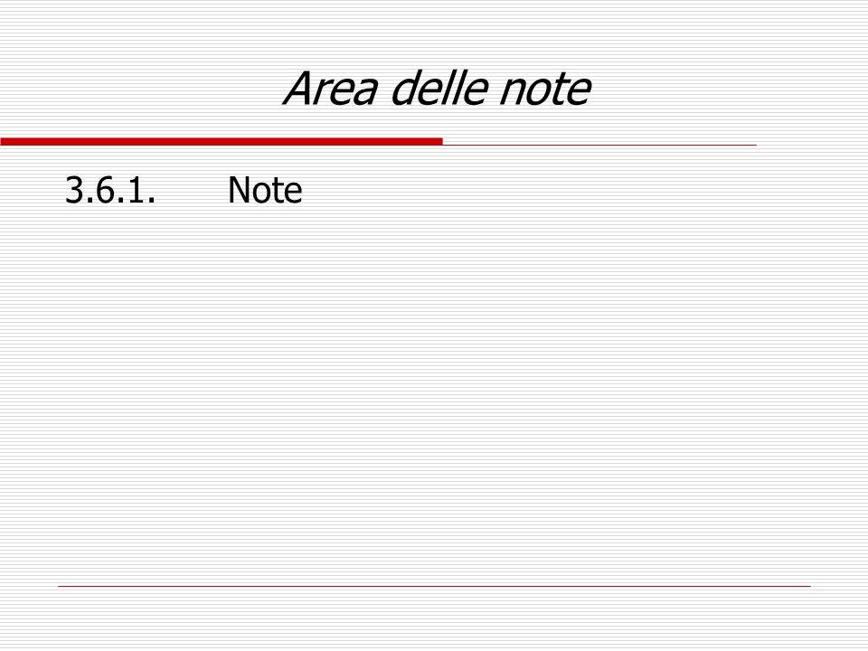 Area delle note 3.6.1.Note