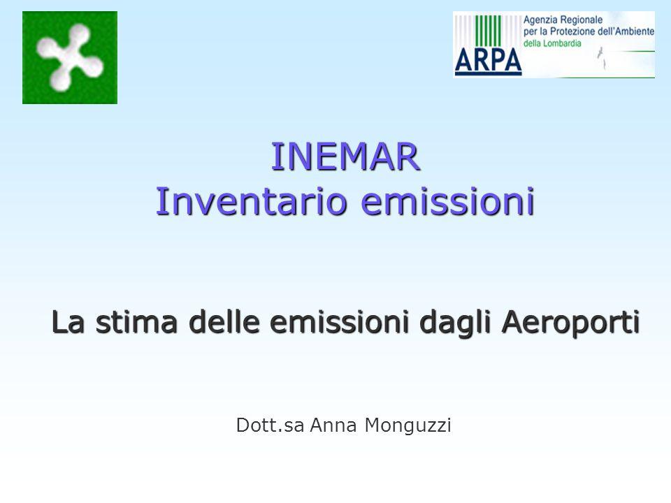 Dott.sa Anna Monguzzi INEMAR Inventario emissioni La stima delle emissioni dagli Aeroporti