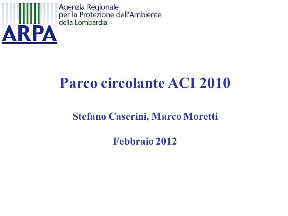 Parco circolante ACI 2010 Stefano Caserini, Marco Moretti Febbraio 2012
