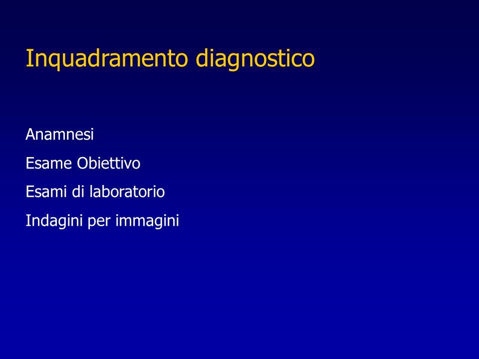 Inquadramento diagnostico Anamnesi Esame Obiettivo Esami di laboratorio Indagini per immagini