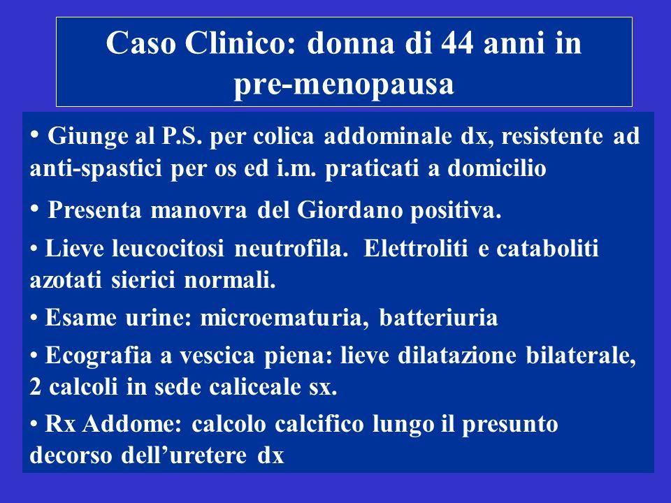 Caso Clinico: donna di 44 anni in pre-menopausa Giunge al P.S.