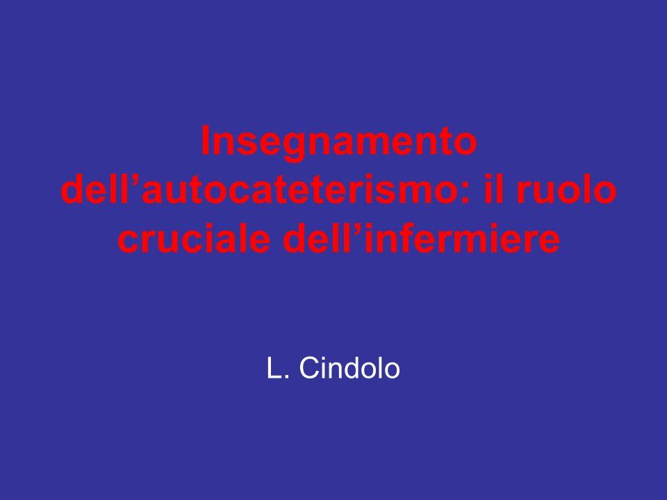 Insegnamento dellautocateterismo: il ruolo cruciale dellinfermiere L. Cindolo
