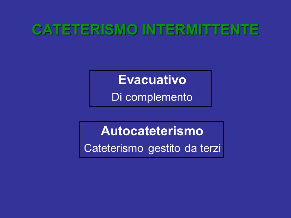 CATETERISMO INTERMITTENTE Steril Intermittent Catheterization (S.I.C.) sec.