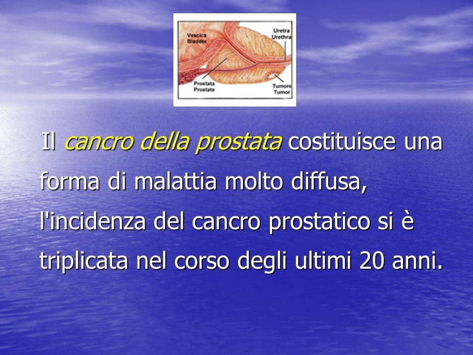 Il cancro della prostata costituisce una forma di malattia molto diffusa, l'incidenza del cancro prostatico si è triplicata nel corso degli ultimi 20