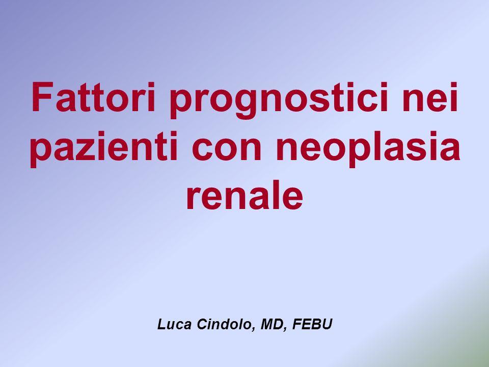 Fattori prognostici nei pazienti con neoplasia renale Luca Cindolo, MD, FEBU