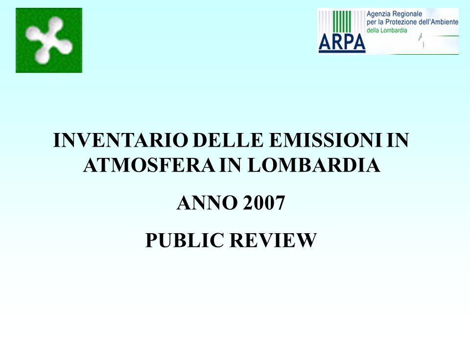 Distribuzione percentuale delle emissioni di gas serra in Lombardia nel 2007 per macrosettore