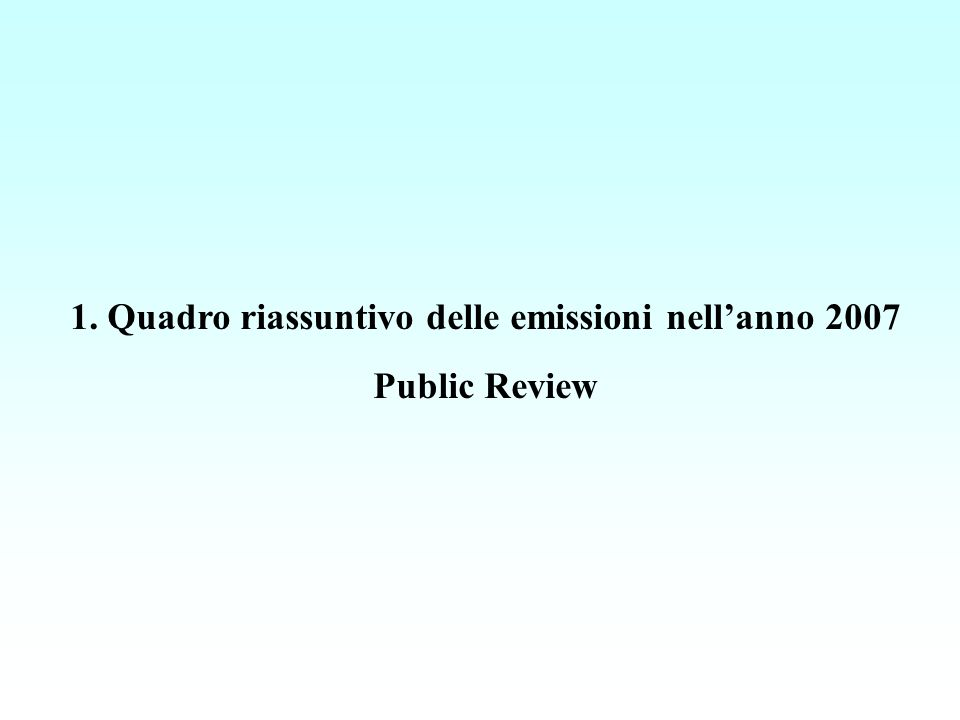 Emissioni in Lombardia nel 2007 ripartite per macrosettore