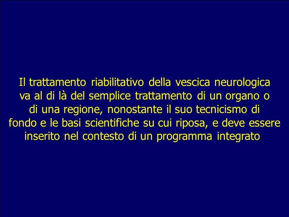 Il trattamento riabilitativo della vescica neurologica va al di là del semplice trattamento di un organo o di una regione, nonostante il suo tecnicism