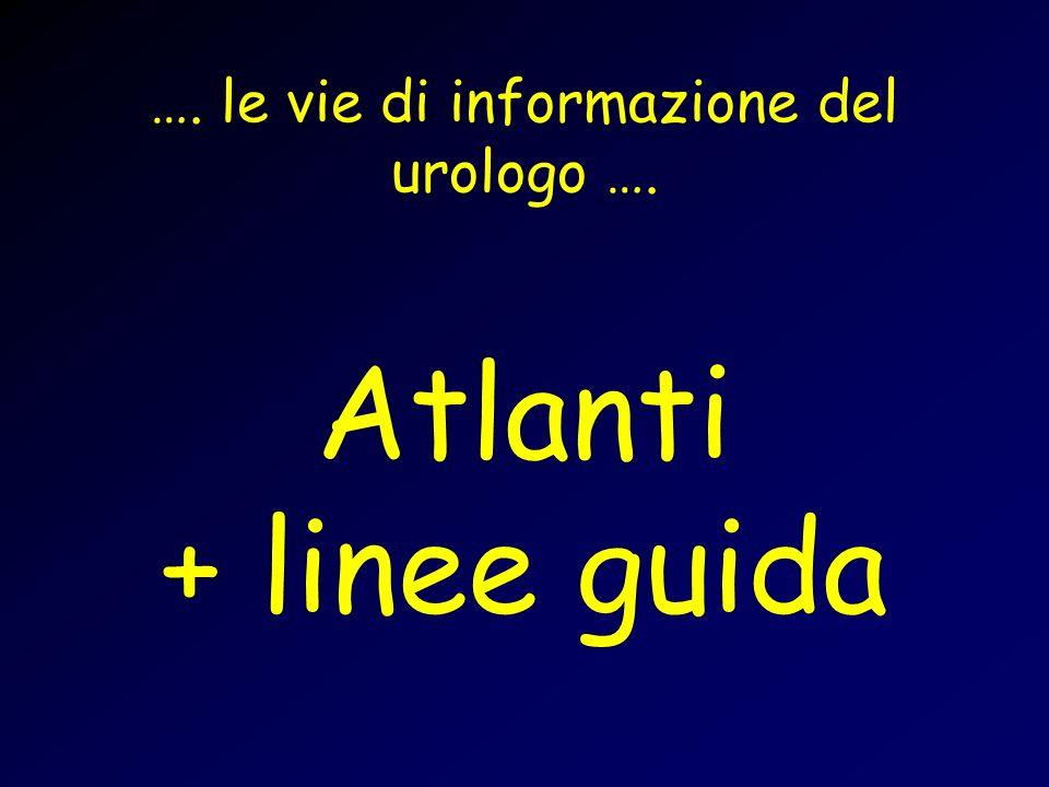 …. le vie di informazione del urologo …. Atlanti + linee guida