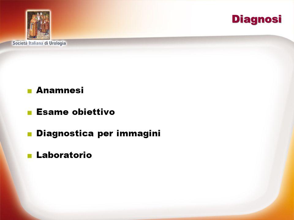 Diagnosi Anamnesi Esame obiettivo Diagnostica per immagini Laboratorio