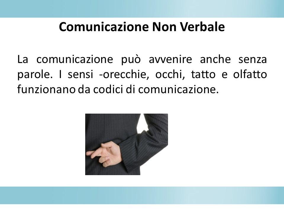 Comunicazione Non Verbale La comunicazione può avvenire anche senza parole.