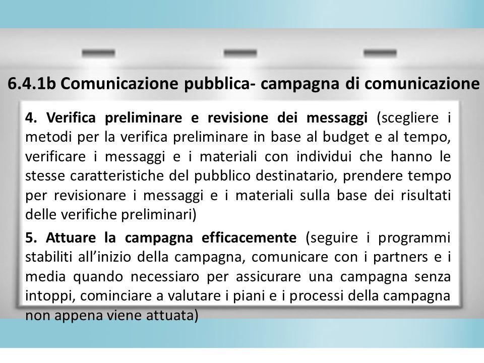 6.4.1b Comunicazione pubblica- campagna di comunicazione 4.
