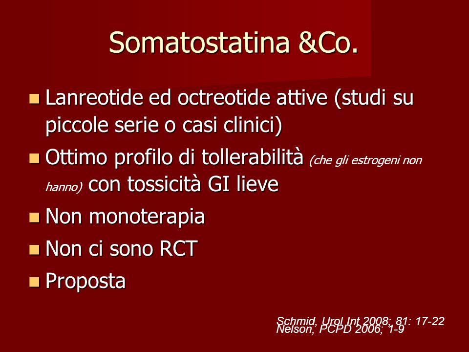 Somatostatina &Co. Lanreotide ed octreotide attive (studi su piccole serie o casi clinici) Lanreotide ed octreotide attive (studi su piccole serie o c