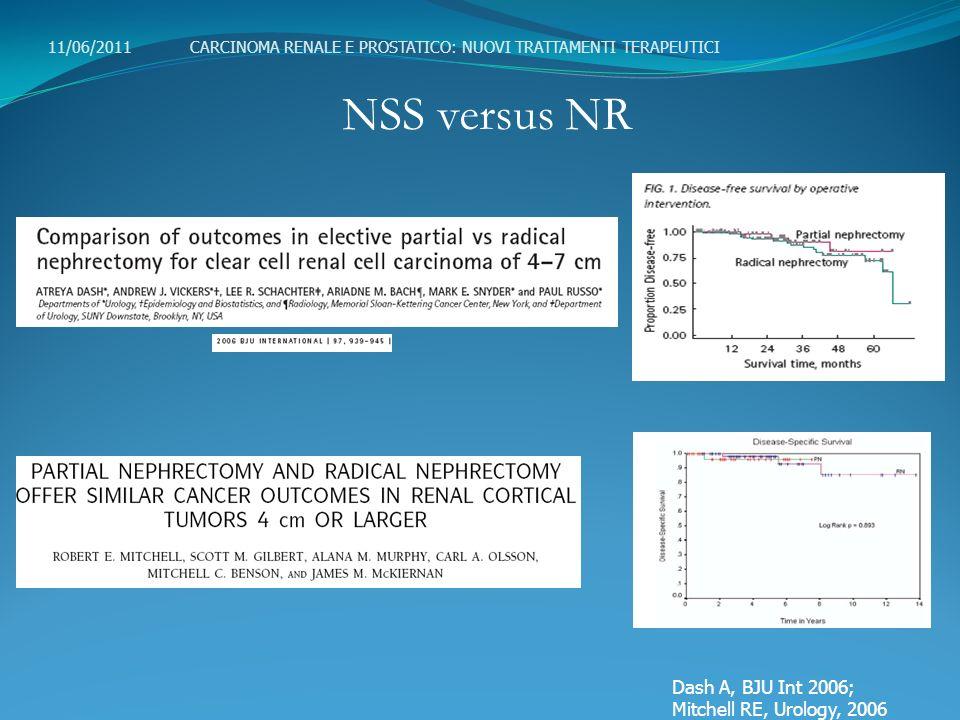 NSS versus NR Dash A, BJU Int 2006; Mitchell RE, Urology, 2006