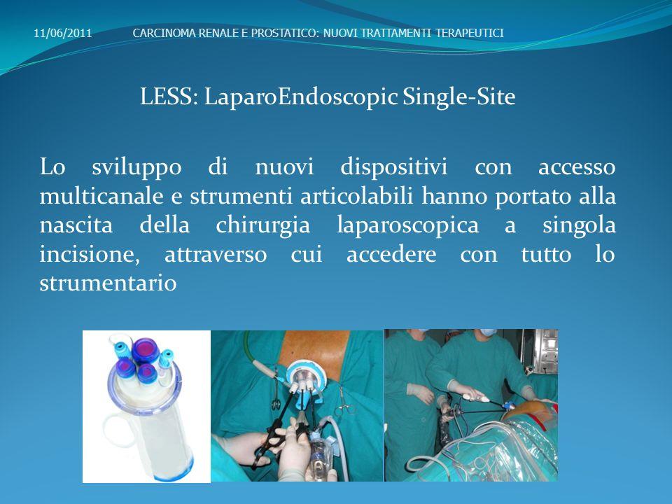LESS: LaparoEndoscopic Single-Site Lo sviluppo di nuovi dispositivi con accesso multicanale e strumenti articolabili hanno portato alla nascita della