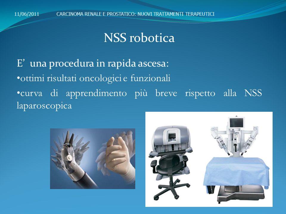 NSS robotica E una procedura in rapida ascesa: ottimi risultati oncologici e funzionali curva di apprendimento più breve rispetto alla NSS laparoscopi