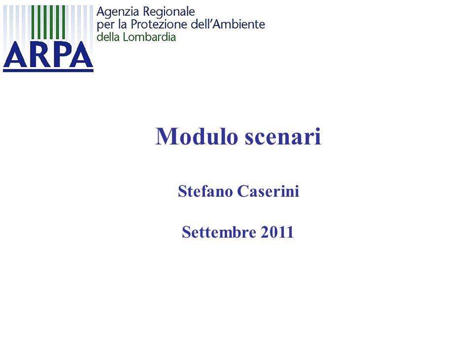 Modulo scenari Stefano Caserini Settembre 2011