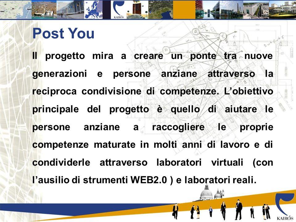 Post You Il progetto mira a creare un ponte tra nuove generazioni e persone anziane attraverso la reciproca condivisione di competenze.