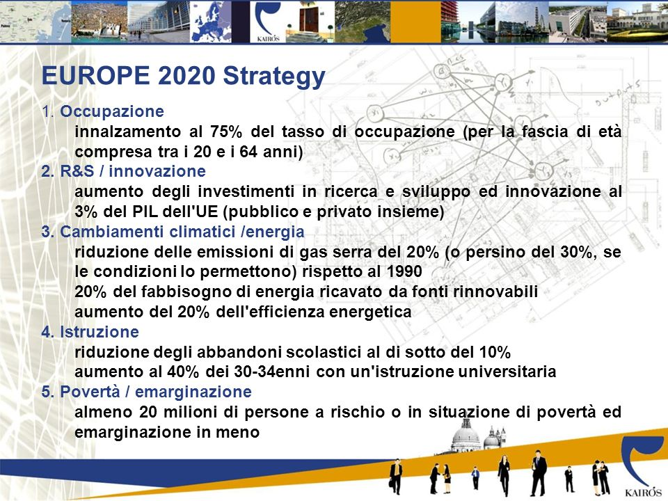 EUROPE 2020 Strategy 1.