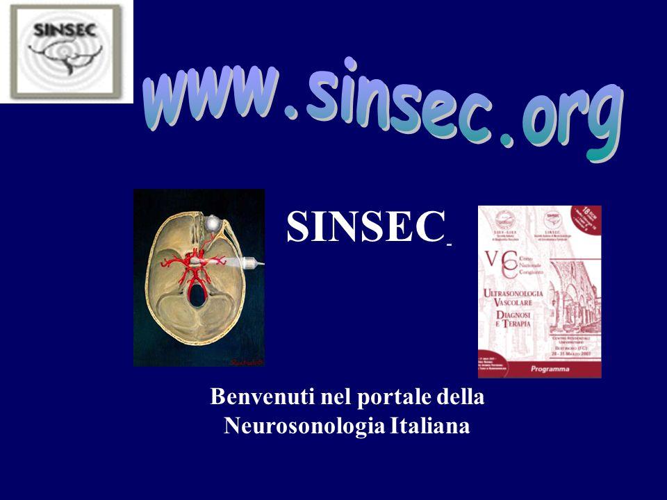 Benvenuti nel portale della Neurosonologia Italiana SINSEC