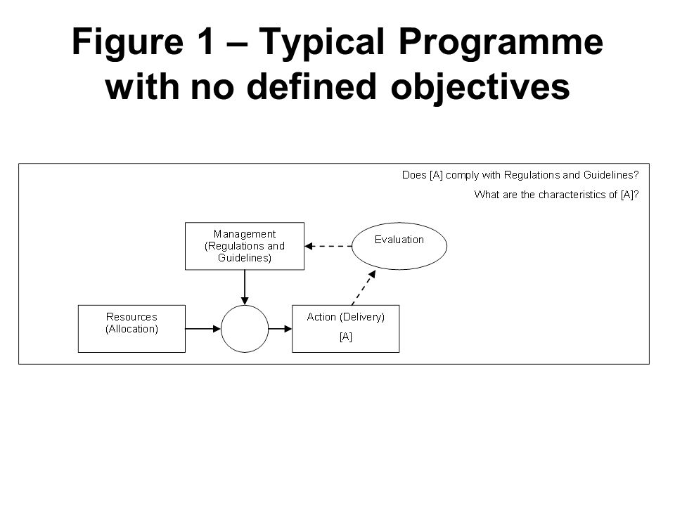 Figure 1 – Typical Programme with no defined objectives