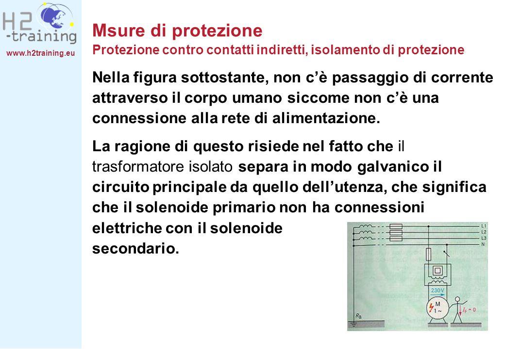 www.h2training.eu Msure di protezione Protezione contro contatti indiretti, isolamento di protezione Nella figura sottostante, non cè passaggio di cor