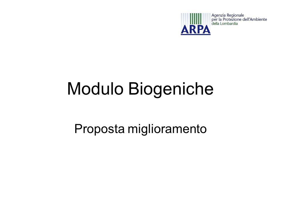 Modulo Biogeniche Proposta miglioramento