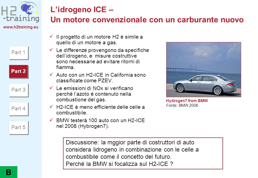 www.h2training.eu Auto a celle a combustibile Part 1 Part 2 Part 3 Part 4 Part 5