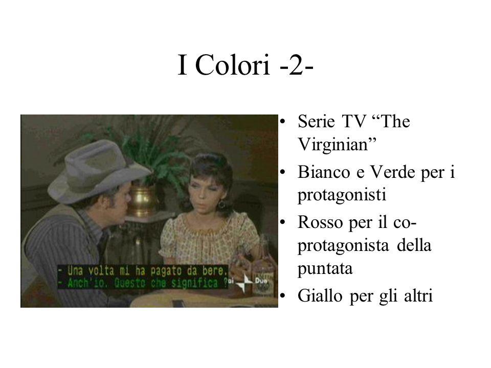 I Colori - 3- Un mondo a Colori Bianco per il presentatore Blu e Verde per gli ospiti in studio Giallo per la voce narrante