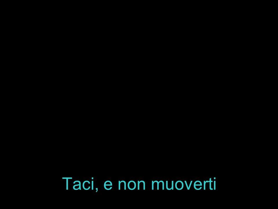 Taci, e non muoverti
